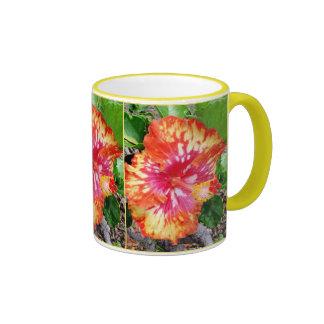 Hibisco abigarrado hawaiano taza de dos colores