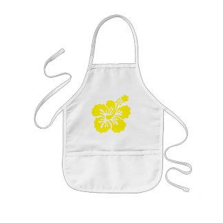 hibisco amarillo delantal infantil