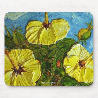 Hibisco amarillo Mousepad Tapetes De Ratón