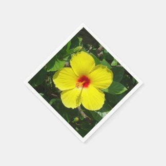 Hibisco amarillo servilletas de papel