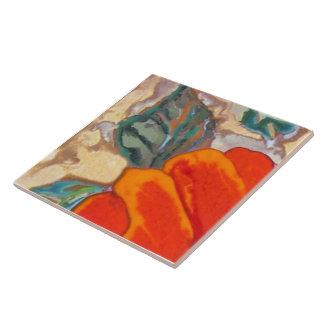 Hibisco anaranjado 1 de 12 azulejo cuadrado grande