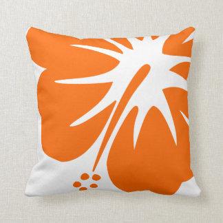 Hibisco anaranjado almohada