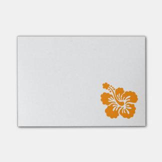 Hibisco anaranjado nota post-it