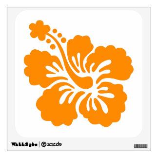 Hibisco anaranjado vinilo adhesivo