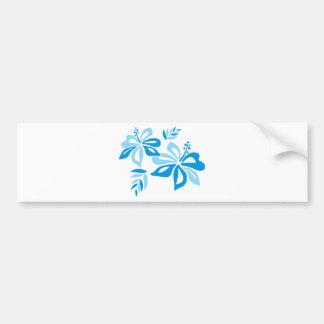 Hibisco azul adaptable pegatina de parachoque