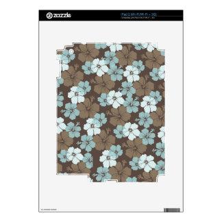 Hibisco azul de PixDezines/fondo diy Skins Para eliPad 2