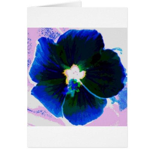Hibisco Azul Felicitación