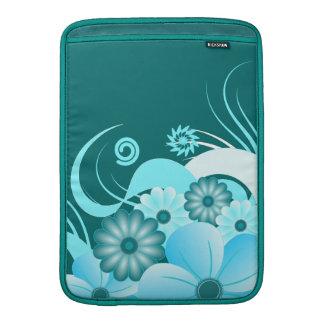 Hibisco azul vertical de la manga de aire de funda  MacBook