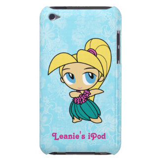 Hibisco Barely There iPod del chica de Hula de las iPod Case-Mate Cárcasas