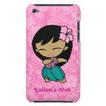 Hibisco Barely There iPod del chica de Hula de las Barely There iPod Funda