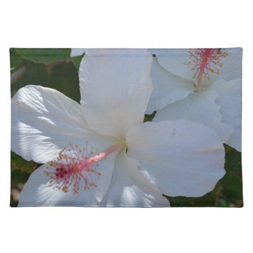 Hibisco blanco Placemat Manteles