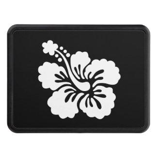 Hibisco blanco y negro moderno tapas de tráiler