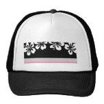 Hibisco blanco y regalos negros de Hawaii del fond Gorro De Camionero