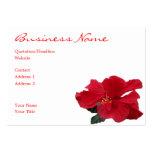 Hibisco candente tarjeta de visita