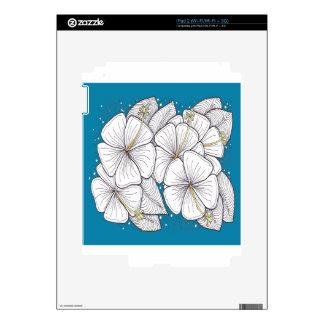 Hibisco con el cielo azul del paraíso skin para el iPad 2