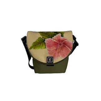 Hibisco coralino bolsa messenger