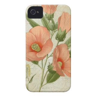 Hibisco coralino iPhone 4 funda