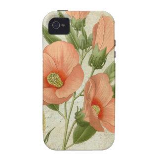 Hibisco coralino Case-Mate iPhone 4 carcasa