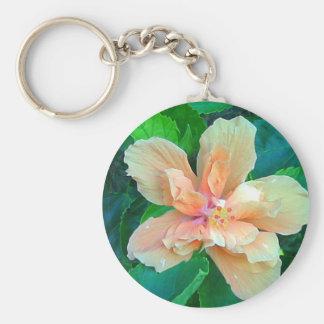 Hibisco de Key West Llavero Redondo Tipo Pin