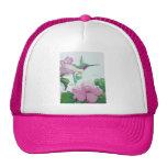 Hibisco de la flor del rosa salvaje del pájaro del gorras