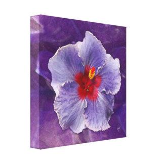 Hibisco de la lila lona envuelta para galerías