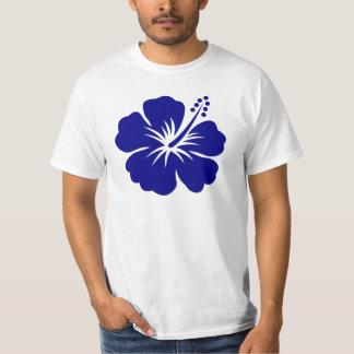 Hibisco de los azules marinos playera
