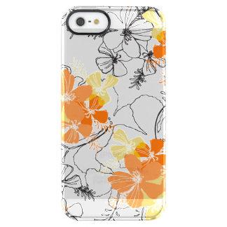 Hibisco de medianoche del Hawaiian del jardín Funda Clearly™ Deflector Para iPhone 5 De Uncommon