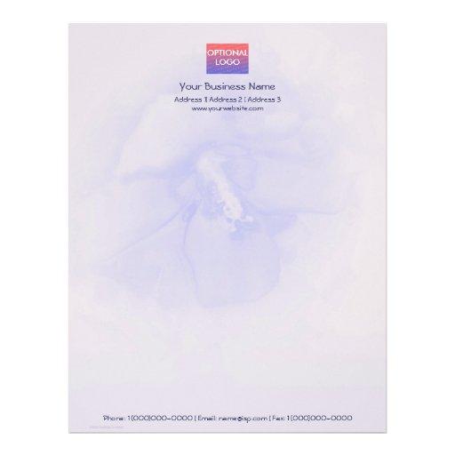 Hibisco del azul de la lavanda membrete