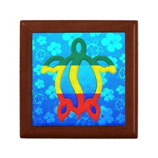Hibisco del azul de Rasta Honu Cajas De Regalo