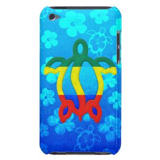 Hibisco del azul de Rasta Honu iPod Case-Mate Fundas