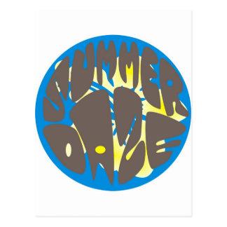 Hibisco del azul del deslumbramiento del verano tarjetas postales