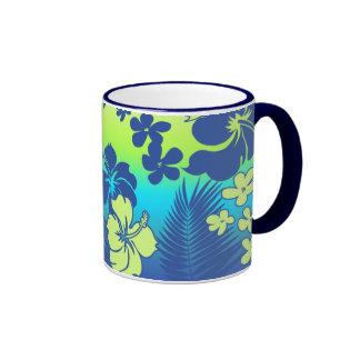 Hibisco del Hawaiian de la mezcla de Kona Taza De Dos Colores