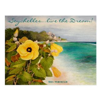 Hibisco del mar tarjetas postales