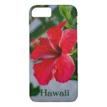Hibisco del rojo de Hawaii Funda iPhone 7
