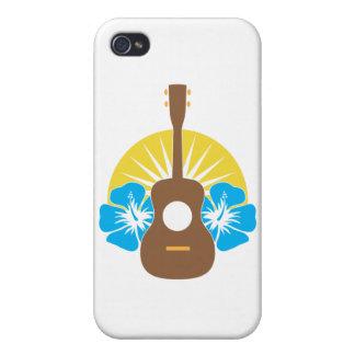 Hibisco del Ukulele iPhone 4/4S Carcasas