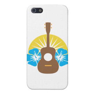 Hibisco del Ukulele iPhone 5 Cárcasa