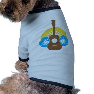 Hibisco del Ukulele Camiseta De Mascota