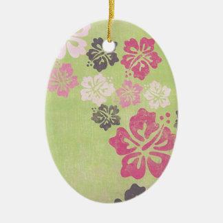 Hibisco del vintage ornaments para arbol de navidad