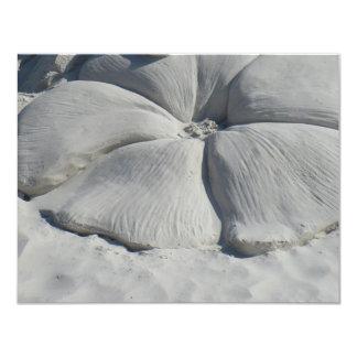 Hibisco en arena invitación 10,8 x 13,9 cm