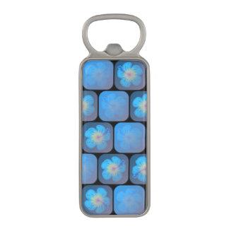 Hibisco en gel azul abrebotellas magnético