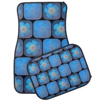 Hibisco en gel azul alfombrilla de auto