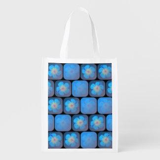 Hibisco en gel azul bolsa de la compra