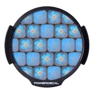 Hibisco en gel azul decal LED para ventana