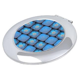 Hibisco en gel azul espejo compacto