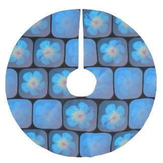 Hibisco en gel azul falda para arbol de navidad de poliéster