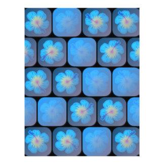 "Hibisco en gel azul folleto 8.5"" x 11"""