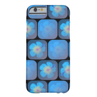 Hibisco en gel azul funda barely there iPhone 6