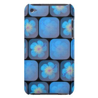 Hibisco en gel azul funda para iPod de barely there