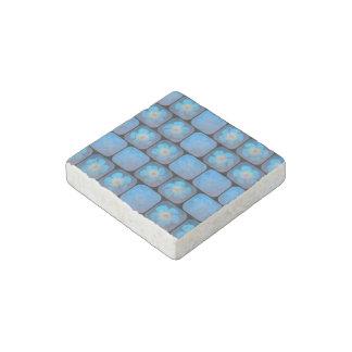 Hibisco en gel azul imán de piedra