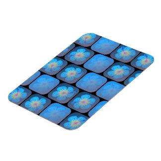 Hibisco en gel azul imán flexible